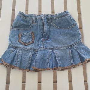 Jean skirt with shorts